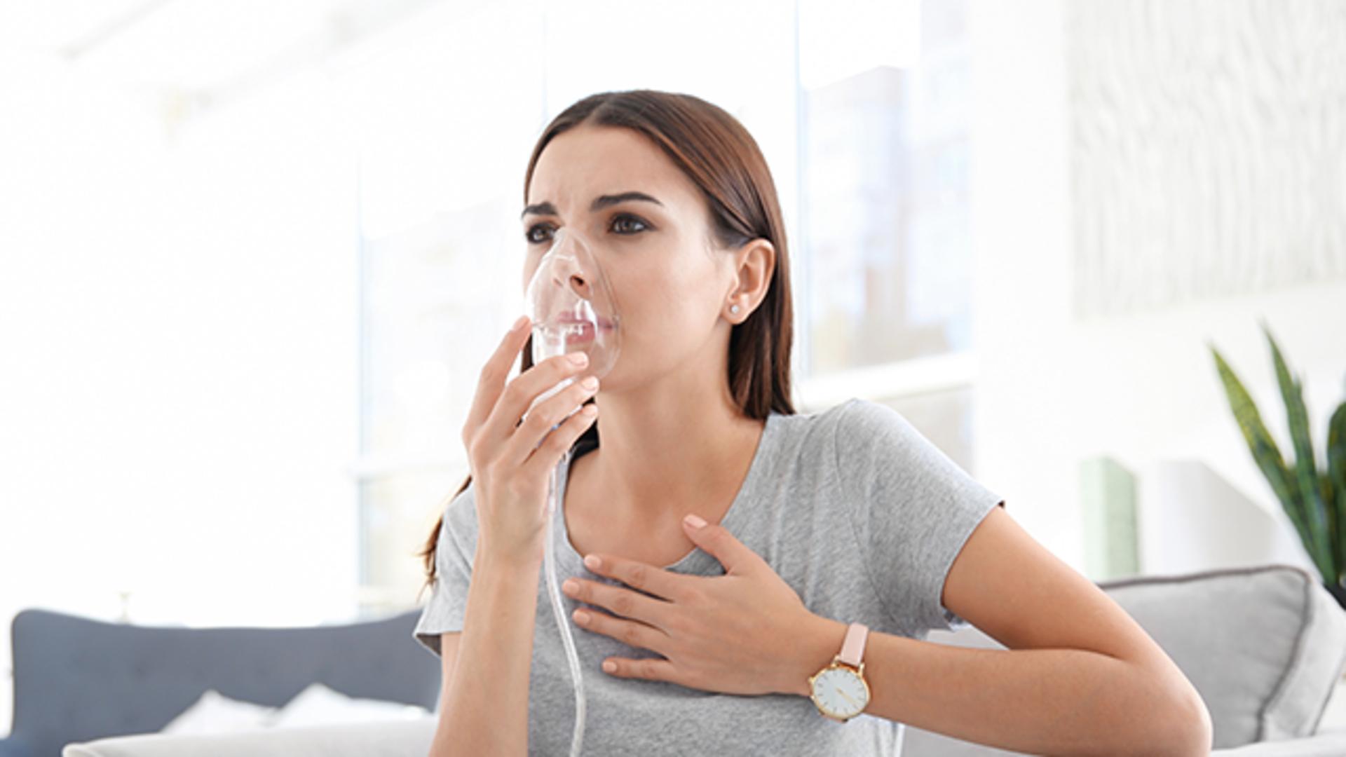 Inhalationstherapie bei einer Bronchitis